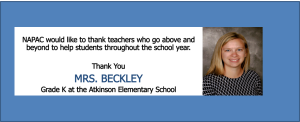 MRS. BECKLEY Above and Beyond